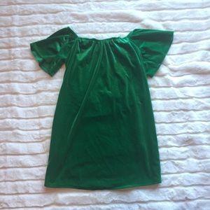 Off-Shoulder Velvet Dress